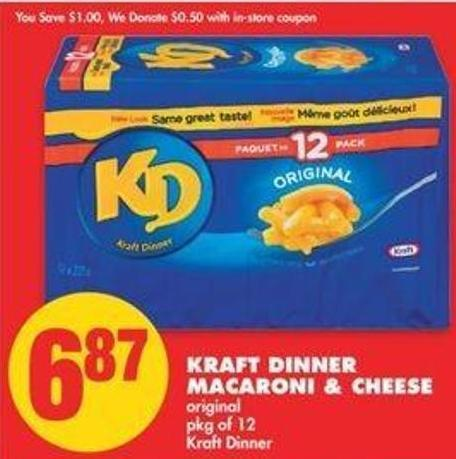 Kraft Dinner Macaroni & Cheese - Pkg Of 12