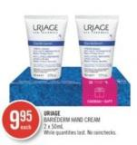 Uriage Bariéderm Hand Cream 2 X 50ml