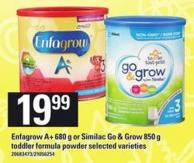 Enfagrow A+ 680 G Or Similac Go & Grow 850 G Toddler Formula Powder