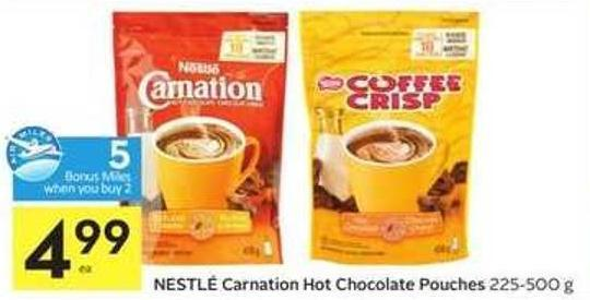Nestlé Carnation Hot Chocolate Pouches - 5 Air Miles Bonus Miles
