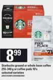 Starbucks Ground Or Whole Bean Coffee - 255-340 g Or Coffee PODS - 10's