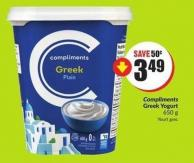 Compliments Greek Yogurt