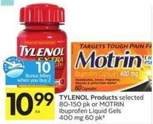 Tylenol Products - 10 Air Miles Bonus Miles
