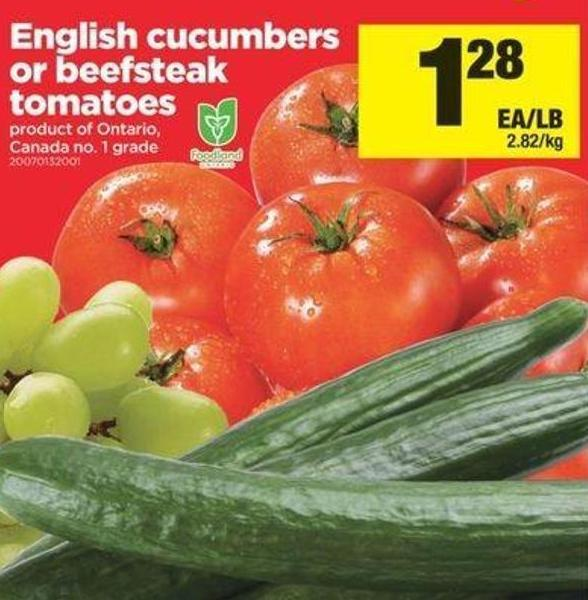 English Cucumbers Or Beefsteak Tomatoes