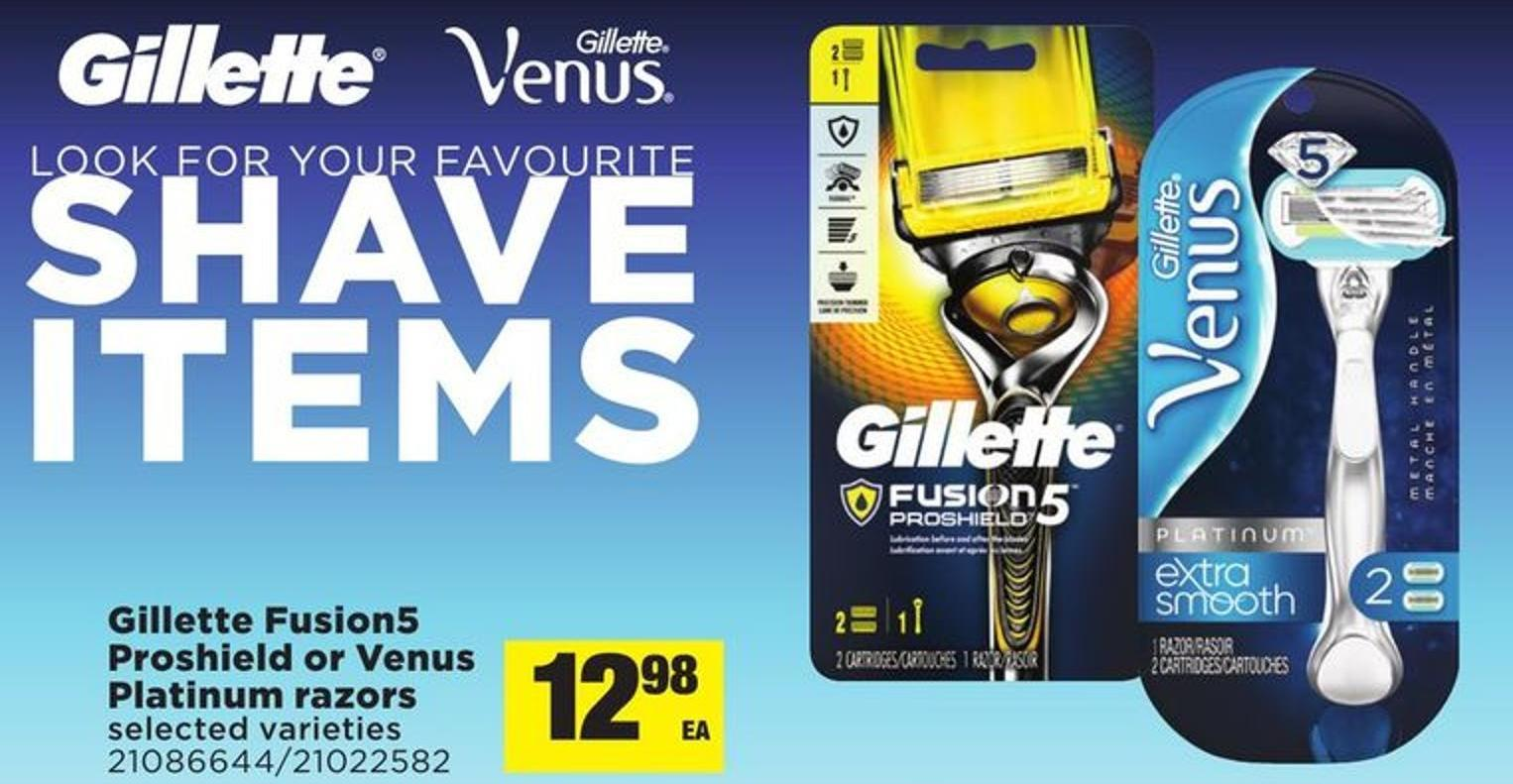 Gillette Fusion5 Proshield Or Venus Platinum Razors