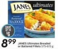 Janes Ultimates Breaded or Battered Fillets 575-615 g