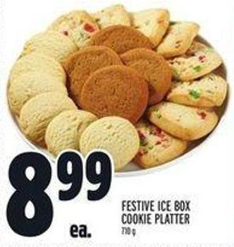 Festive Ice Box Cookie Platter