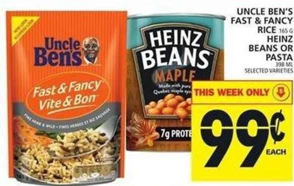Uncle Ben's Fast & Fancy Rice Or Heinz Beans Or Pasta