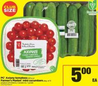 PC Axiany Tomatoes - 681 g or Farmer's Market Mini Cucumbers - Pkg of 11