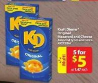 Kraft Dinner Original Macaroni and Cheese