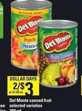 Del Monte Canned Fruit - 398 mL