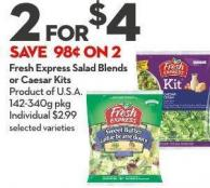Fresh Express Salad Blends  or Caesar Kits