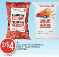 PC Kettle (220g) - Thick Cut Original or Loads Of Flavour Chips (200g)