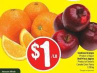 Seedless Oranges Product of Spain Red Prince Apples Product of Ontario Canada Extra Fancy 2.20/kg