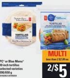 PC Or Blue Menu 10 Inch Tortillas - 390/650 g
