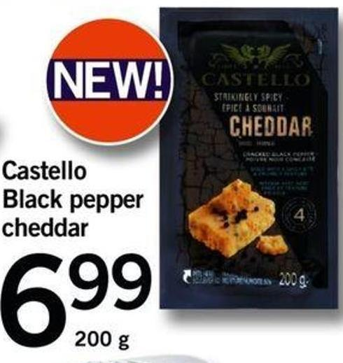 Castello Black Pepper Cheddar - 200 G