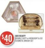 Quo Beauty Double Duty or Highlight & Go Cosmetic Brush Set