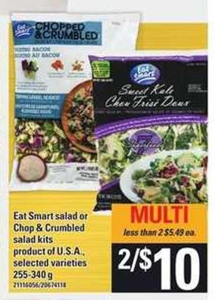 Eat Smart Salad Or Chop & Crumbled Salad Kits - 255-340 g