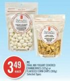 PC Trail Mix Yogurt Covered Cranberries (325g) or Flaxseed Corn Chips (300g)