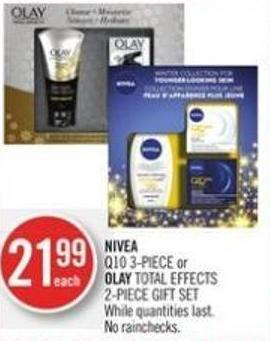 Nivea  Q10 3-piece or Olay Total Effects 2-piece Gift Set