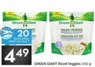 Green Giant Riced Veggies 340 g - 20 Air Miles Bonus Miles