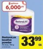 Restoralax Laxative Powder - 45 Dose - 765 g