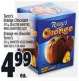 Terry's Orange Chocolate 157 g - Selected Varieties While Quantities Last