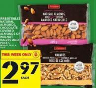 Irresistibles Natural Almonds - Chocolate Covered Almonds Or Walnut Halves And Pieces
