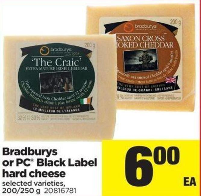 Bradburys Or PC Black Label Hard Cheese - 200/250 G