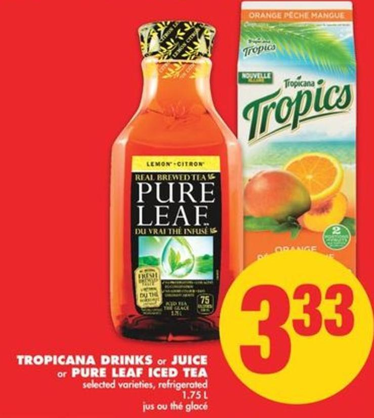 Tropicana Drinks Or Juice Or Pure Leaf Iced Tea - 1.75 L