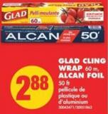 Glad Cling Wrap - 60 M - Alcan Foil - 50 Ft