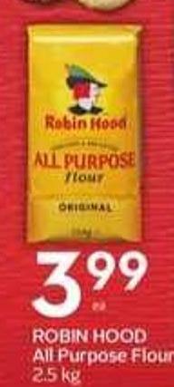 Robin Hood All Purpose Flour - 2.5 Kg