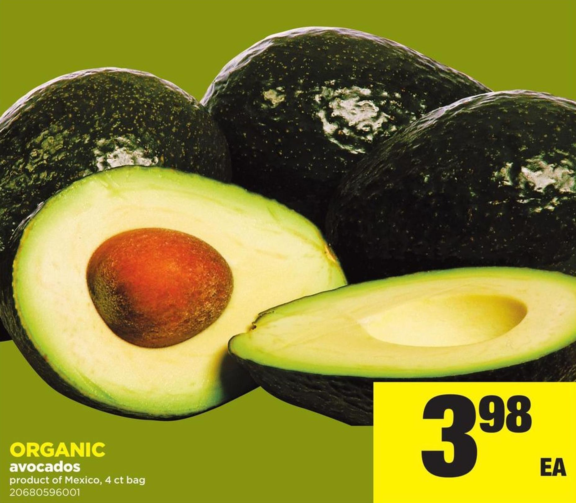 Organic Avocados - 4 Ct Bag