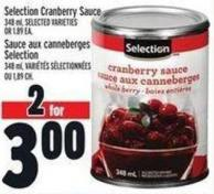 Selection Cranberry Sauce 348 ml