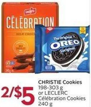 Christie Cookies 198-303 g or Leclerc Célébration Cookies 240 g