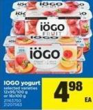 IOGO Yogurt - 12x95/100 g or 16x100 g