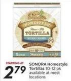 Sonora Homestyle Tortillas 10-12 Pk