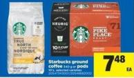 Starbucks Ground Coffee - 340 g or PODS - 10's