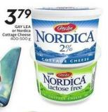 Gay Lea or Nordica Cottage Cheese 400-500 g