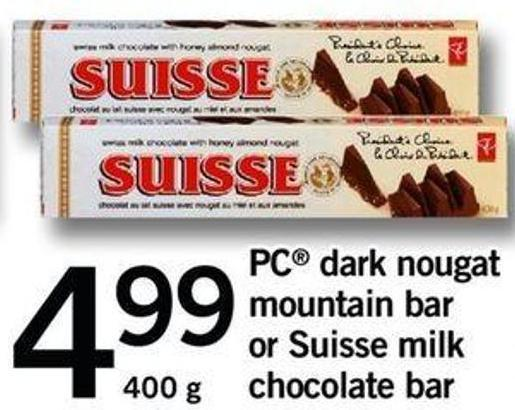 PC Dark Nougat Mountain Bar Or Suisse Milk Chocolate Bar - 400 G