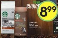 Starbucks Roast or Ground Coffee