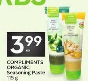 Compliments Organic Seasoning Paste