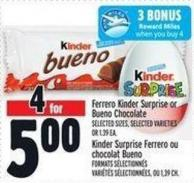 Ferrero Kinder Surprise Or Bueno Chocolate