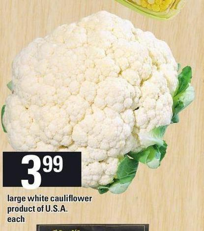 Large White Cauliflower