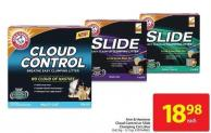 Arm & Hammer Cloud Control or Slide Clumping Cat Litter