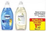 Dawn or Ivory Dish Detergent