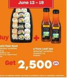 Sushi Maki Boat - 400 g And Pure Leaf Tea - 414/547 mL
