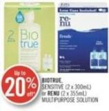 Biotrue Sensitive (2 X 300ml) or Renu (2 X 355ml) Multipurpose Solution