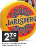 Norwegian Jarlsberg or L'extra Single or Double Cream Brie
