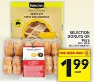 Selection Donuts Or Pies